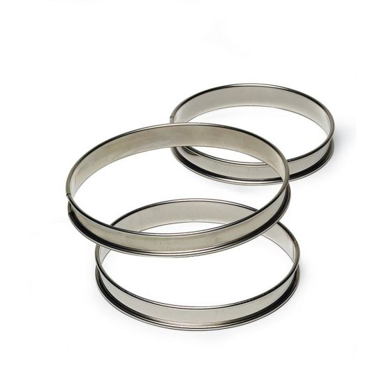 200MM S/S RND TARTE RING H27MM Pack Of 2 CC 14834950