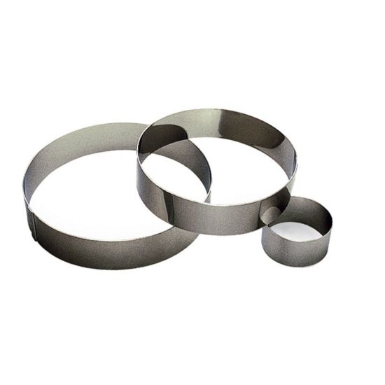 80MM S/S RND MOUSSE RING H45MM Pack Of 3 CC 14865010