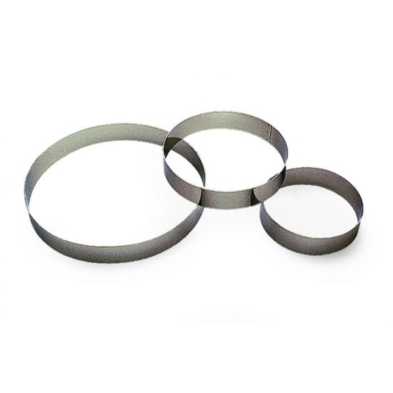 50MM S/S RND CUSTARD RING H35MM Pack Of 3 CC 14866120