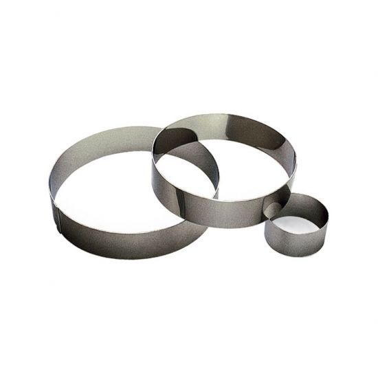 80MM S/S RND MOUSSE RING H40MM Pack Of 3 CC 14866280