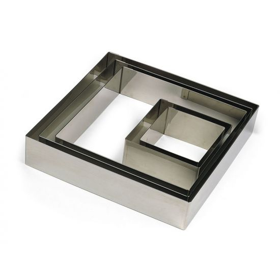 60MM S/S SQUARE NONNETTE RING H30MM Pack Of 2 CC 14869030