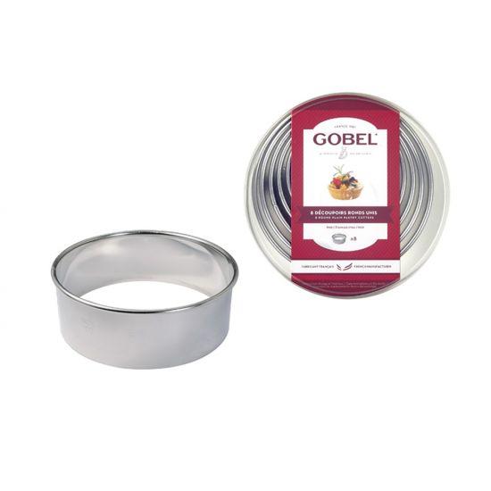 SET 8 S/S PLAIN CUTTERS 35-100MM BOXED CC 14880101