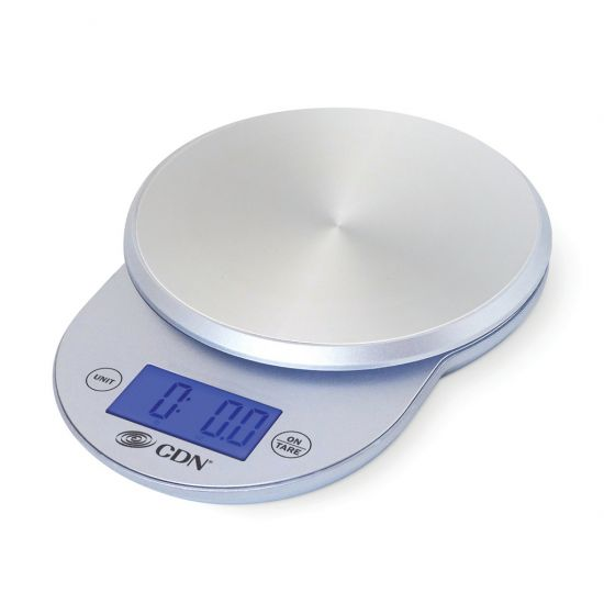 CDN Round Digital Scale Silver CC 1752004