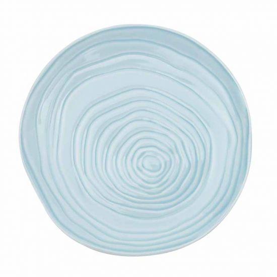 PLATE 21CM PALE BLUE-TEAK CC 34213021BR