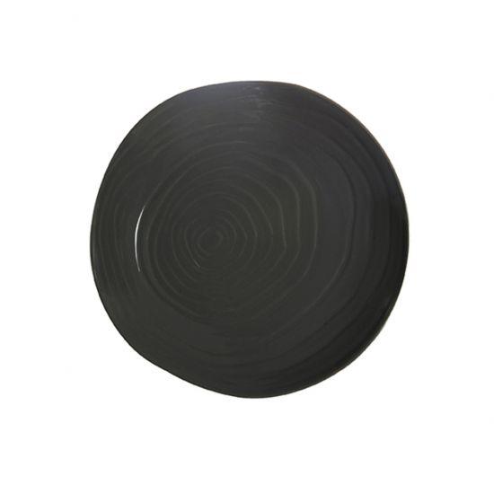 PLATE 28CM STEEL GREY-TEAK CC 34213028RA