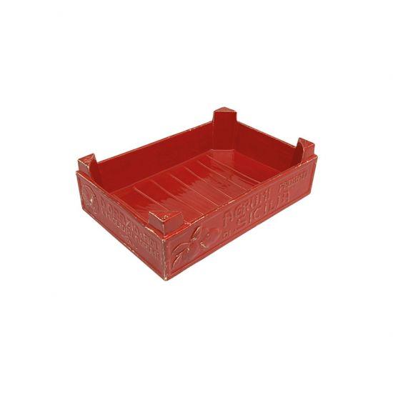**34X22.5CM FRUIT BOX ROSSO MEDITERRANEO CC 5525607