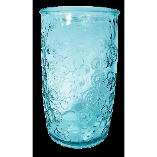 400ML GLASS FLORA BLUE HT14CM/D8CM CC 642301DB20