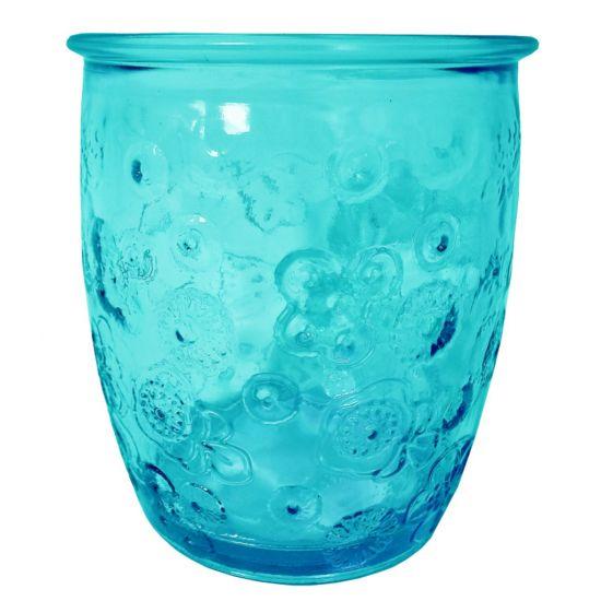 300ML GLASS FLORA BLUE HT9CM/D9CM Pack Of 3 CC 642325DB20