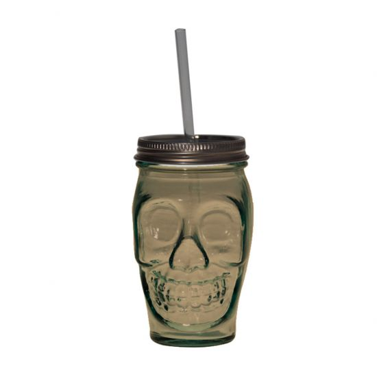 DRINKING TUMBLER W/LID BROWN 450CL SKULL Pack Of 2 CC 642345DB400