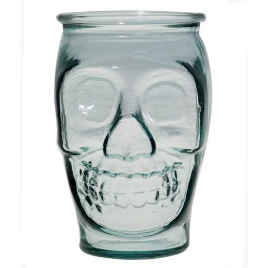 LARGE TUMBLER CLEAR 450CL SKULL Pack Of 3 CC 642346