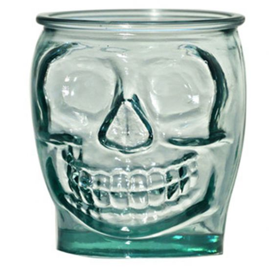SMALL TUMBLER CLEAR 400CL SKULL Pack Of 3 CC 642347