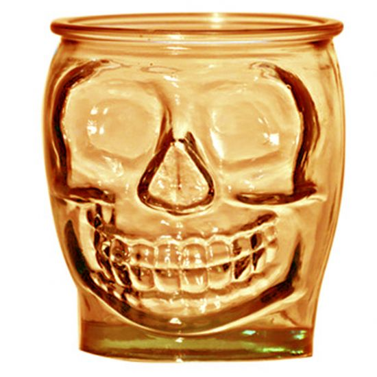 SMALL TUMBLER BROWN 400CL SKULL Pack Of 3 CC 642347DB400