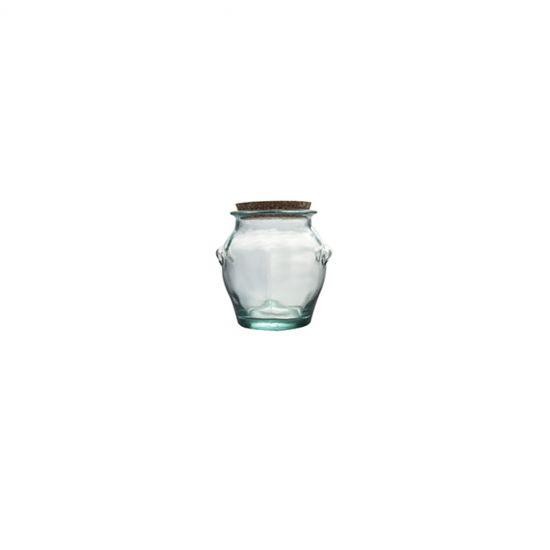 1.5L ROUND JAR W/CORK STOPPER H16CM CC 645082
