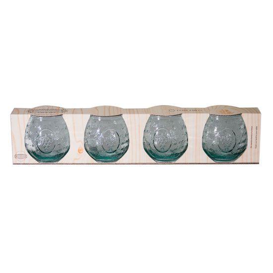 SET 4 40CL GLASS MEDITERRANEO CC 64XW234301